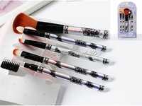 5x Pro Flower Print Cosmetic Makeup Eyeshadow Blush Brushes Tool Kit C-0008
