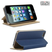 Royal elegant flip stand cover for iphone 5s case, luxury leather flip case for apple iphone 5s	with retail package