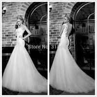 New Design OP-09 Fashion Mermaid Sweetheart Open back Wedding Dress Party dress VESTIDO DE NOIVA