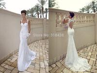 New Design Q832 High quality  Lace Appliques Beads Open Back Wedding Dress Party dress VESTIDO DE NOIVA