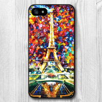 Free Shipping Lover Eiffel Tower Protective Hard Cover Case For iPhone 5 5S