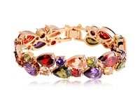 Mona lisa fashion vintage fashion aaa zircon colorful crystal bracelet accessories female