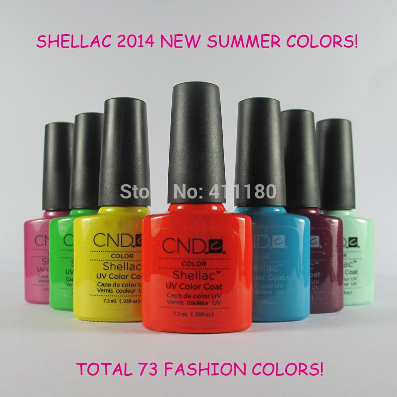79 Fashion Colors Available 6Pcs/lot Hot Sale CND Shellac Soak Off UV LED Nail Gel Polish The Best Gel Polish(China (Mainland))