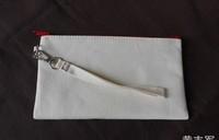 20 * 12 cm portable cotton canvas long purse Blank painting pen bag Students pen bag 10pcs/lot