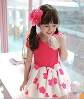 2014 GEGEBO New Summer Baby & Girl Lolita Style Dress wilth short sleeves for 2T-6 children Free Shipping