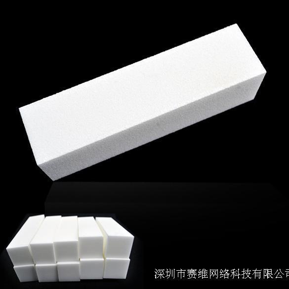 nova chegada 2014 freeshipping francês manicure unha polonês pedaços rodeada de branco fosco brilho esponja arquivo especial de 10(China (Mainland))