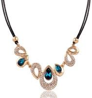 Super Luxury Shine Diamond Chokers Crystal Drop Shape Rare High Quality Sexy Necklace&Pendant  Free shipping Fashion Jewelry