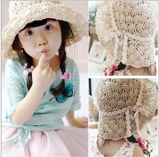 Children Accessories Beach Hats Floppy Sun Hat Baby Summer Hats Kids Accessories Fashion Cap Girls&Boy Hat F-009(China (Mainland))