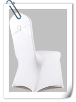 free shipping white  spandex band with plastic buckle for chair covers