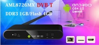 Newest DVB-T2 TV100-T2 Smart TV box Android 4.2 AML8726-MX 1GB/4GB HDMI WIFI  bluetooth 3G AV out  Set TV Box free shipping