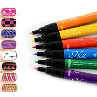 diy nail supplies nail polish pen tool kit painted nails painted some flowers Nail Pen  Pull