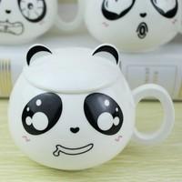 Ceramic mug milk cup glass mug with lid