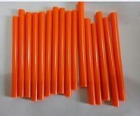 Orange 0.7*10 cm Glue Stick  Adhesive For Hot Melt Gun Audio Craft General Purpose 50 pcs/lot Free Shipping