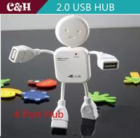 20PCS USB splitter HUB lilliputian splitter usb hub 2.0 usb hubHigh Speed Mini 4 Port Hub Port For Laptop PC Free shipping