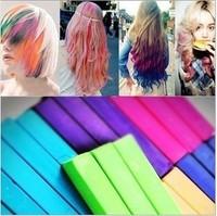 Free Shipping 24 Colors Chalk Pastel Stick Vermicelli Chalk Powder Brush Hair Chalk
