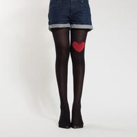 Hot sale fashion tights brand soft hosiery silk stocking sexy pantyhose Nylon cute heart shape 3 colors