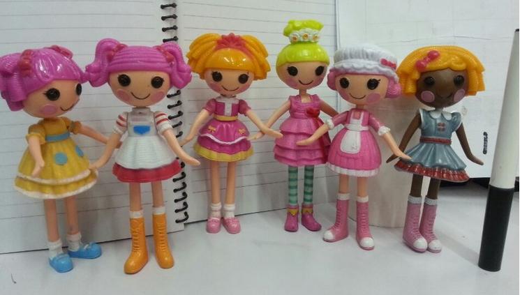2014 New girls brinquedos 6pcs/set mini Lalaloopsy dolls 13cm, child kid birthday gift, action collection figure play house toys(China (Mainland))