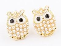 2014 New Mother's Day Gift Fashion Elegant Korean Cute Cartoon Character Owl Summer Earrings Fashion Earrings #94984