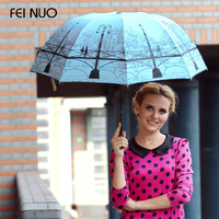 Quality Folding Beach Umbrellas Anti-Uv  Protection Super Sun Umbrella Princess Umbrella Female Umbrella Rain Women (Sky Blue)