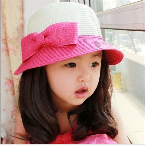 Children Accessories Beach Hats Floppy Sun Hat Baby Summer Hats Kids Accessories Fashion Cap Girls Hat F-012(China (Mainland))