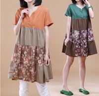 2014 spring plus size clothing summer short-sleeve basic one-piece dress