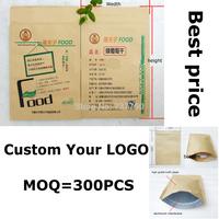 custom gift kraft pouch/snacks food small kraft bag/Brown Paper Zipper Lock Pouch