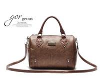2014 Top Fasion Hot Sale Freeshipping Women Solid Zipper Fashionable Casual Vintage Handbag Messenger Bag Cylinder Women's 510