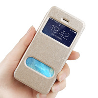 Newest Arrival Gold leather silk Case For iphone 5 5s 5g Smart Mobile phone Flip Cover For iphone5