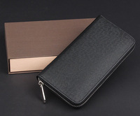 Classic Cross Texture Long Wallet For Men Name Designer Brand Luxury Male Purse Day Clutch Handbag 3 Colors Free Shipping