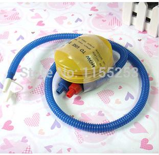 Free International supplies portable inflatable foot pump inflatable tube inflatable ball inflatable ball for wedding essential(China (Mainland))