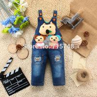 Hot 2014 baby overall baby rompers children's clothing boy girls Jeans denim overalls Children's Wear set baby suit