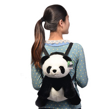 "17.3""/44cm Kid's Plush Cute Animal Doll Toy Panda Backpack Bag(China (Mainland))"