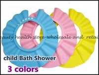 500Pcs/lot Lovely Soft Shampoo Bath Shower Cap for Child Kid , Baby Wash Hair Shield Hat ,Yellow / Pink / Blue