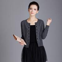 2014 spring women's sweater cardigan all-match sunscreen design short outerwear sweater female
