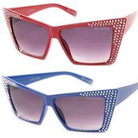 New Fashion Cat Eye Women Sunglasses Brand Designer Vintage Diamond Oculos de sol UV400 Retro Womens Sun Glasses Free Shipping