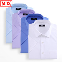 2014 summer business formal men's clothing white male short-sleeve shirt professional solid color Y0172