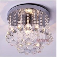 Single head Led crystal entrance Ceiling lights/aisle /hallway /corridor ceiling lamp 12-25cm dia. for choice E14 candle bulb(China (Mainland))