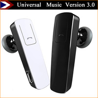 New Arrival Bluetooth Headset Bluetooth Headphone Earphone Wireless Headset Universal Support Music Version 3.0 Free Shipping