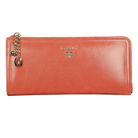 2014 New hot sell Fashion women's genuine leather long wallet design multi card holder