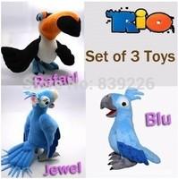 Retail 23-30CM Rio Cute Plush Blu & Jewel Toy Baby Stuffed Animaml Blu Parrot Bird Soft Doll T-33