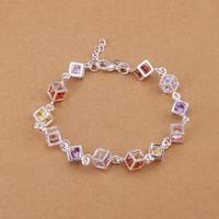H220 Free Shipping Wholesale 925 silver bracelet, 925 silver fashion jewelry Colored Stone Bracelet / broakivata
