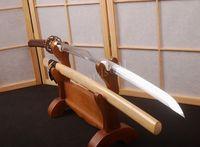 Details about samurai sword katana for iaito practise sharpened can cut bamboo Shirasaya HA130