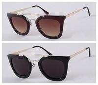 Free shipping!Wholesale Fashion Tide Retro Double Beam Star Biycle Sunglasses