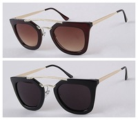 Free shipping!Wholesale Fashion Tide Retro Double Beam Star Biycle Sunglasses