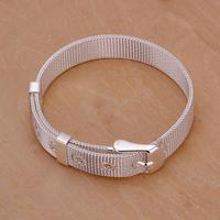 H237 Wholesale! 925 silver bracelet 925 silver fashion jewelry charm bracelet Small Web Watch Belt Bracelet