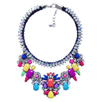 Sales promotion 2014 new Luxury shourouk pendant  necklace Choker bib chunky flower Chain Fashion Necklaces & pendant  women