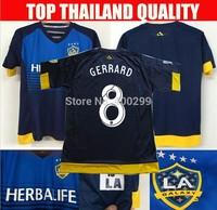 A+++ Top Thailand Los Galaxy Thai New 2014 La  Galaxy Home White Soccer Jersey 14 15 Futbol Shirt Custom Beckham 23# Donovan 10#