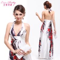 new 2014 Betty print design long halter-neck evening dress fashion formal dress slim evening dress