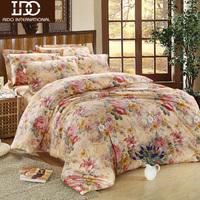 Free shipping long-staple cotton home textile satin reactive print four piece set 100% cotton four piece set new arrival bedding