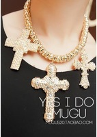 2014, best-selling Europe and the United States cross, crystal jewelry pendants, ms necklace